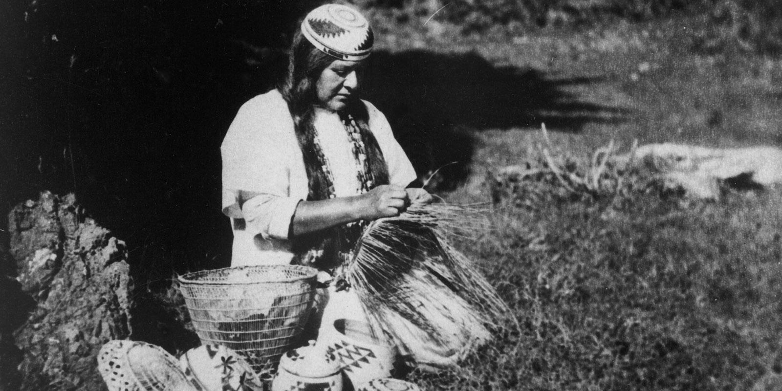 Indians Basket Weaving-1